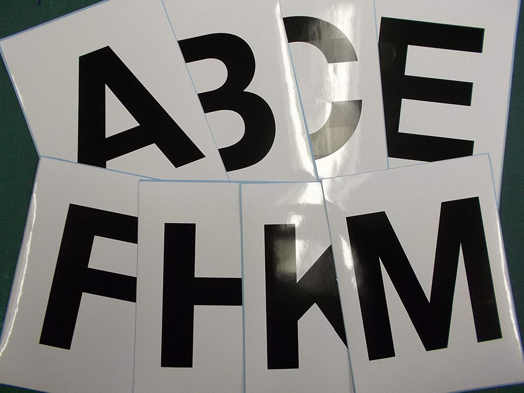 8 Black Letter Stickers for Dressage Arena Markers - Vinyl Vision