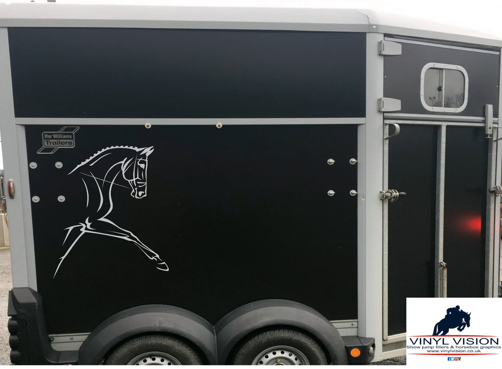 Dressage Showing Horse Head car, lorry, trailer, horsebox decal - Medium size - Vinyl Vision
