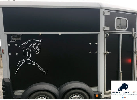 Race Horses for lorry, trailer, horsebox decal - Large size