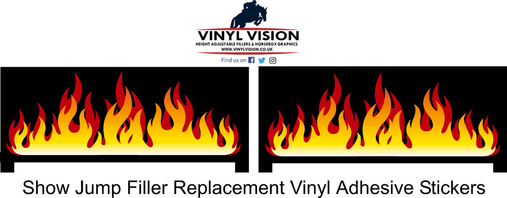 Fire Flames Show jump filler stickers for sale vinyl vision