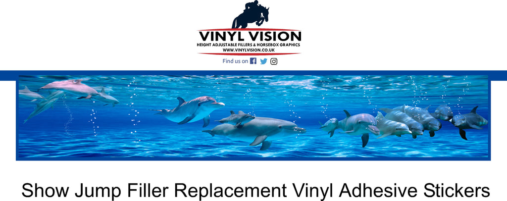 Sealife water show jump filler replacement stickers, tired looking show jumps? cheap, easy, diy . Vinyl Vision for sale