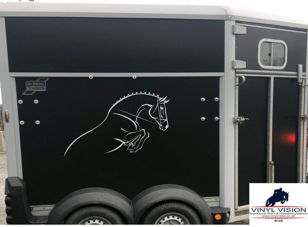 Show jumping horse for car, lorry, trailer, horsebox decal - Medium size - Vinyl Vision
