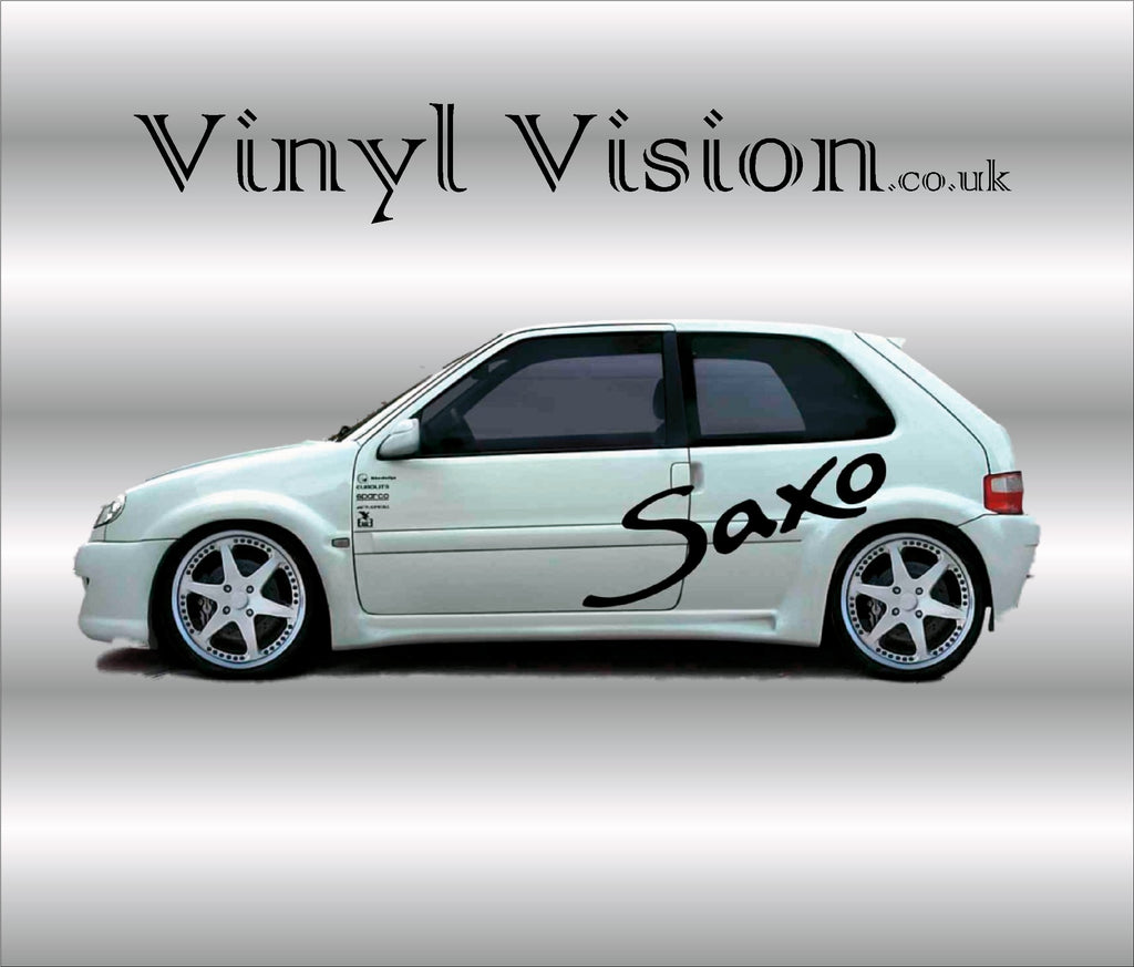 Citroen Saxo logo decal stickers graphics kit racing vinyl vision