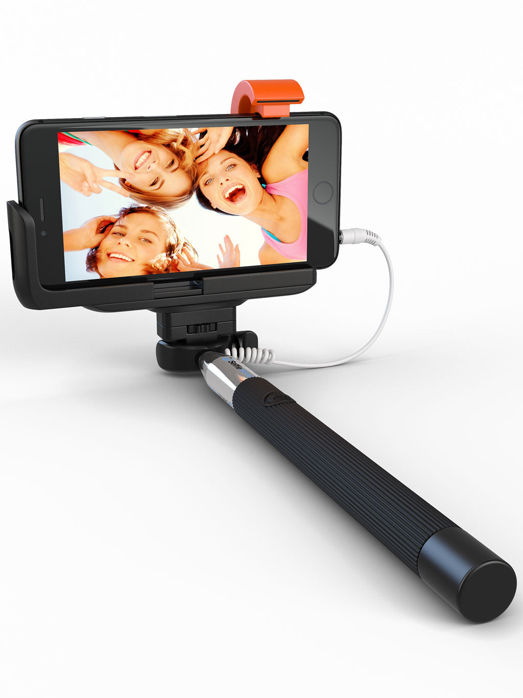 1bb23c9ef15b86 Best Wired Selfie Stick With Aux Cable For iPhone & Samsung Galaxy – Selfie  World
