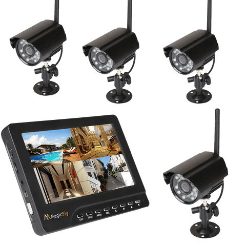 Magicfly Digital Wireless DVR Security System with New Vision-upgrade Durable Model