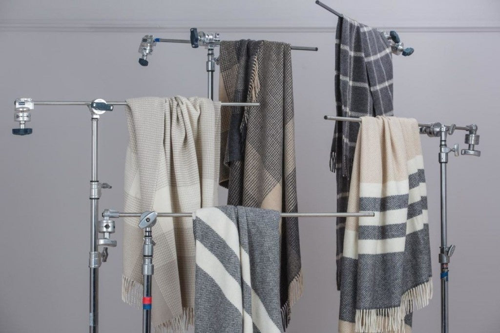 Foxford Woollen Mills - Luxury Cashmere Collection of Throws Rugs Blankets