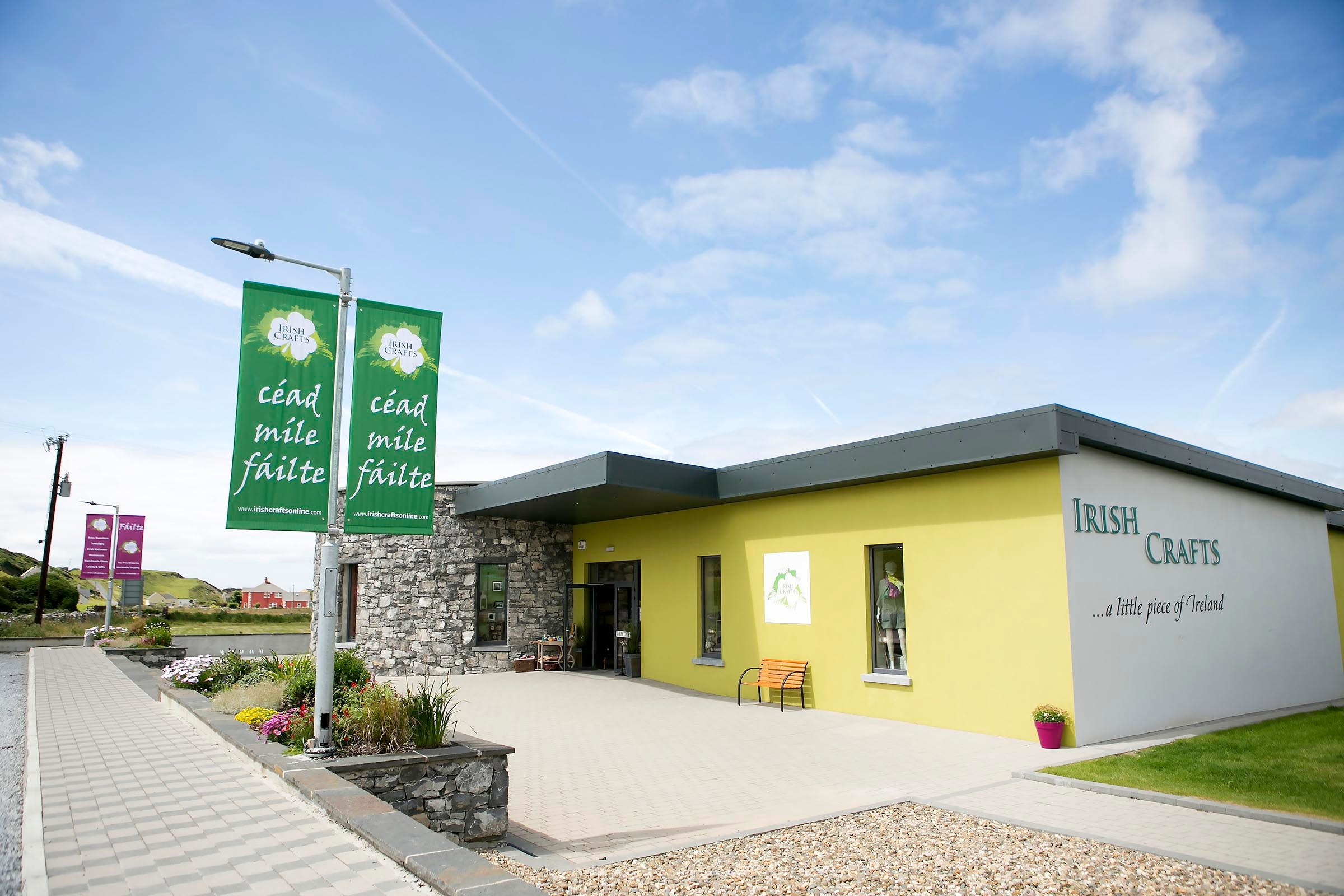 Outside view of Irish Crafts in Doolin