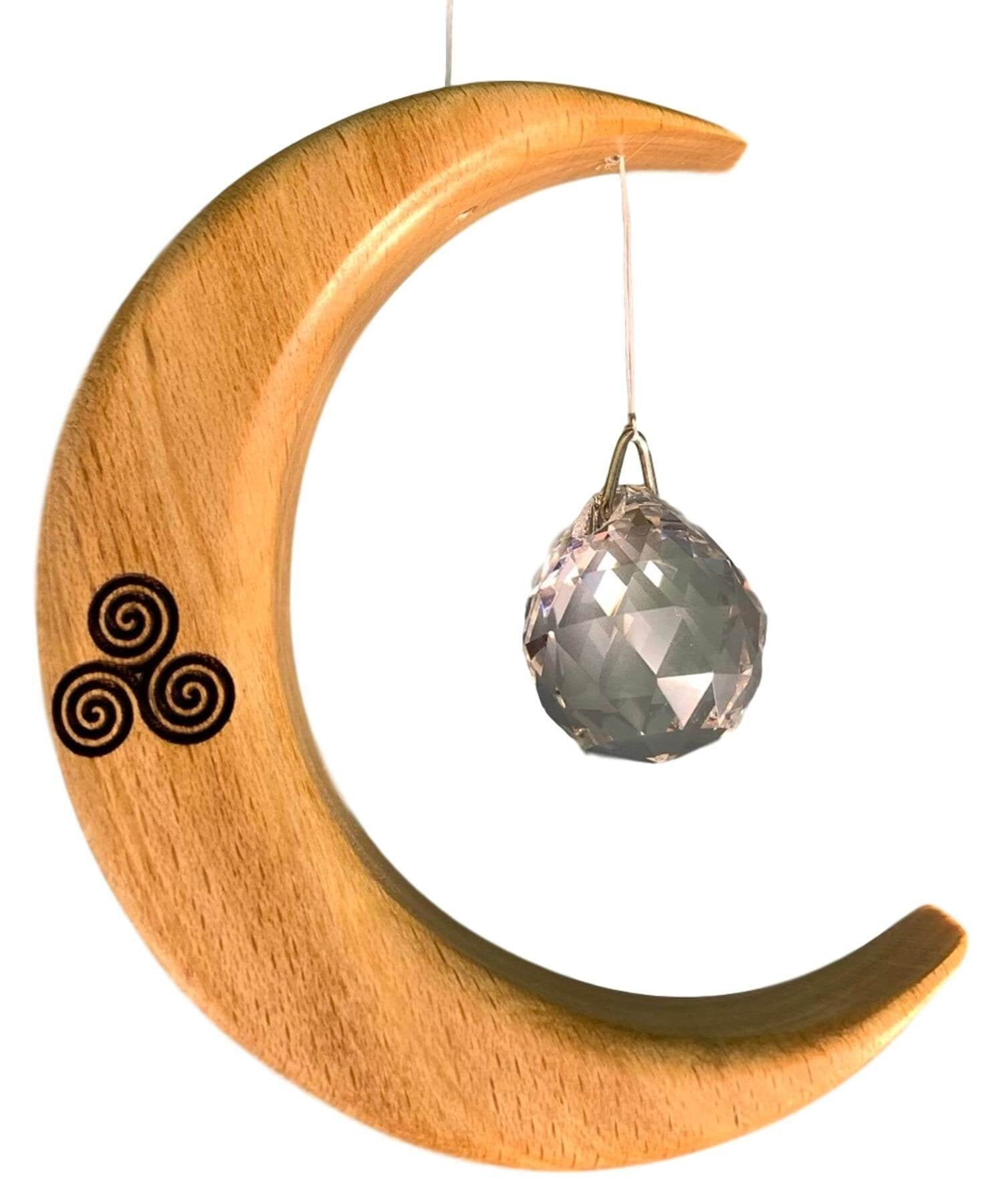 Suncatcher - Celtic Spiral (small) Artwood Wood & Slate