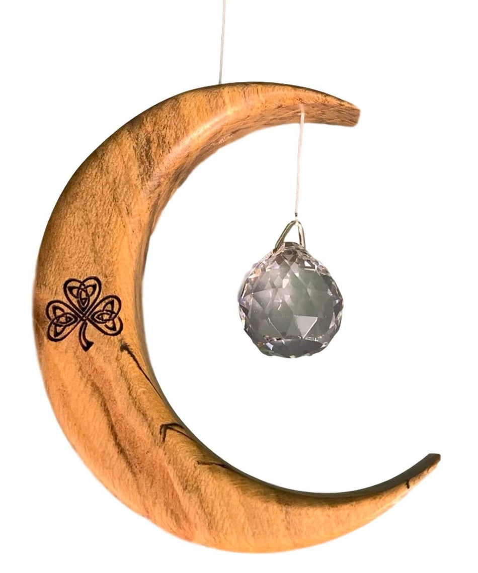Suncatcher - Celtic Shamrock (small) - [Artwood] - Wood & Slate - Irish Gifts