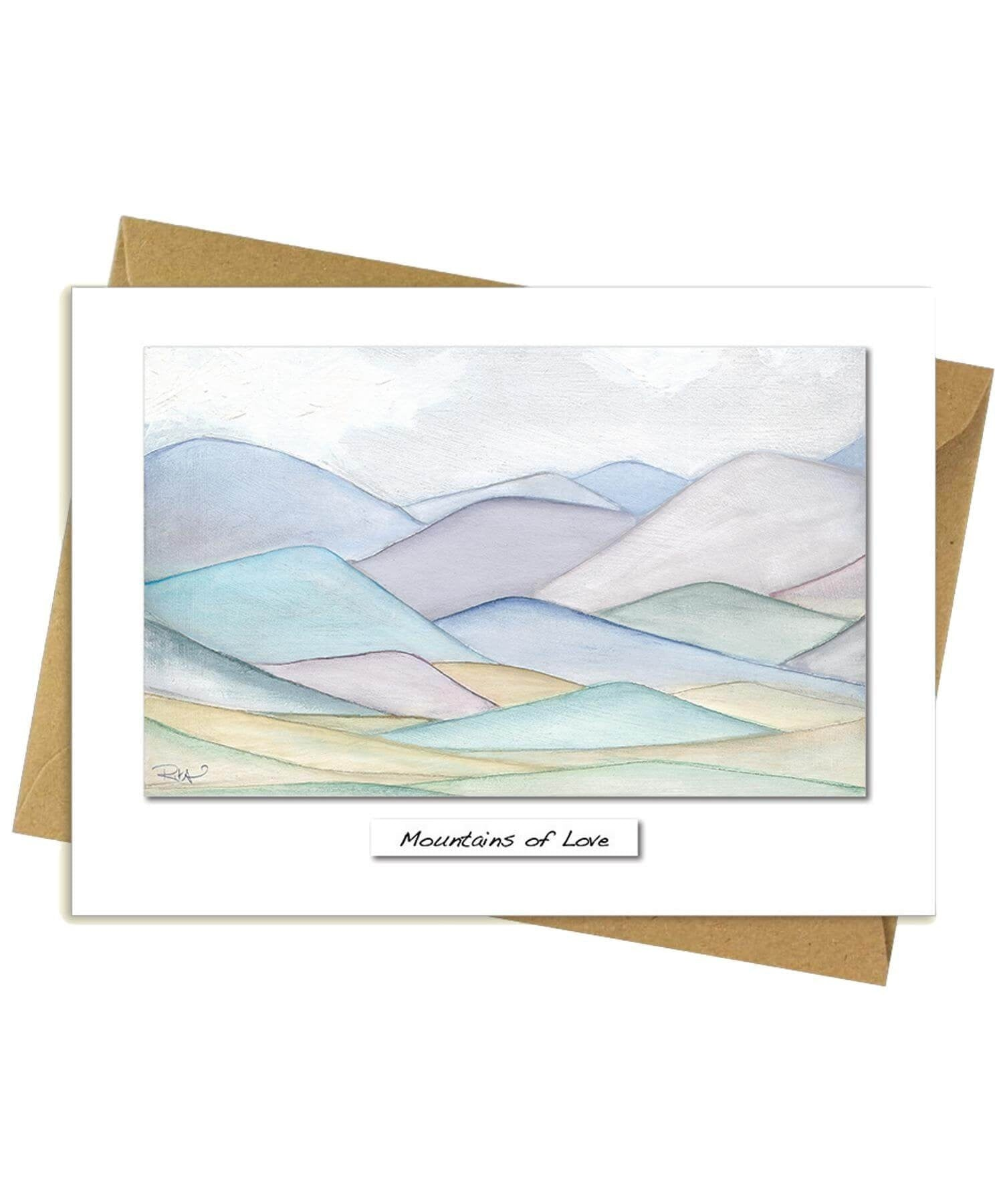 Greeting Card - Mountains of Love Rita Oates Cards