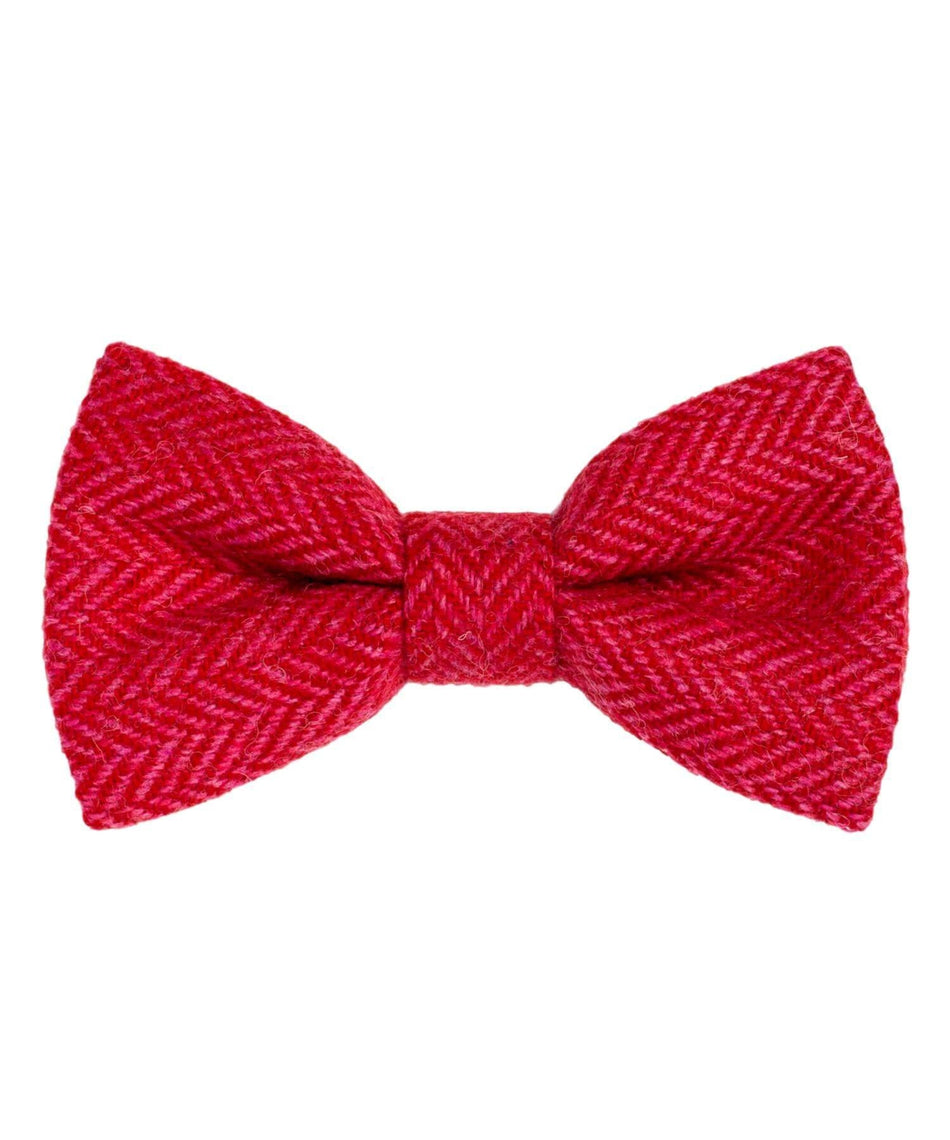 Donegal Tweed Bow Tie - Cerise - [Orwell & Browne] - Mens Accessories - Irish Gifts