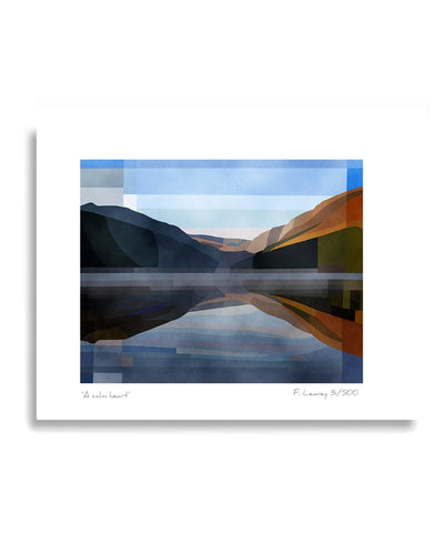 Mounted Print - A Calm Heart - [Fab Cow] - Wall Art & Photography - Irish Gifts