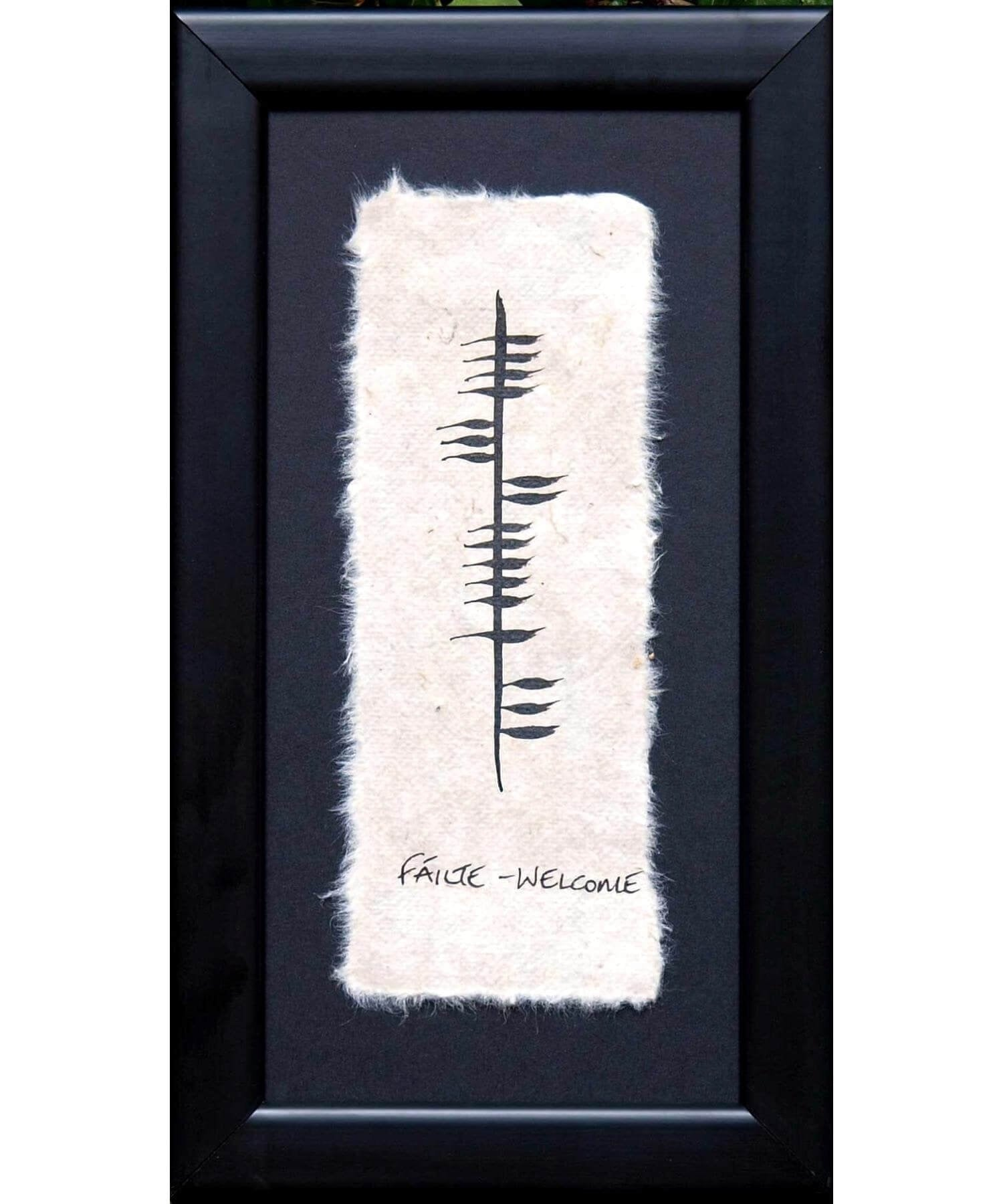 Ogham - Failte Wishes Wall Art Prints & Photography