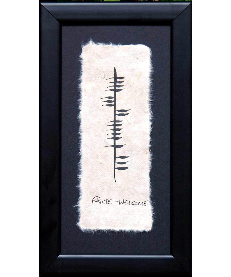 Ogham - Failte - [Ogham Wishes] - Wall Art & Photography - Irish Gifts