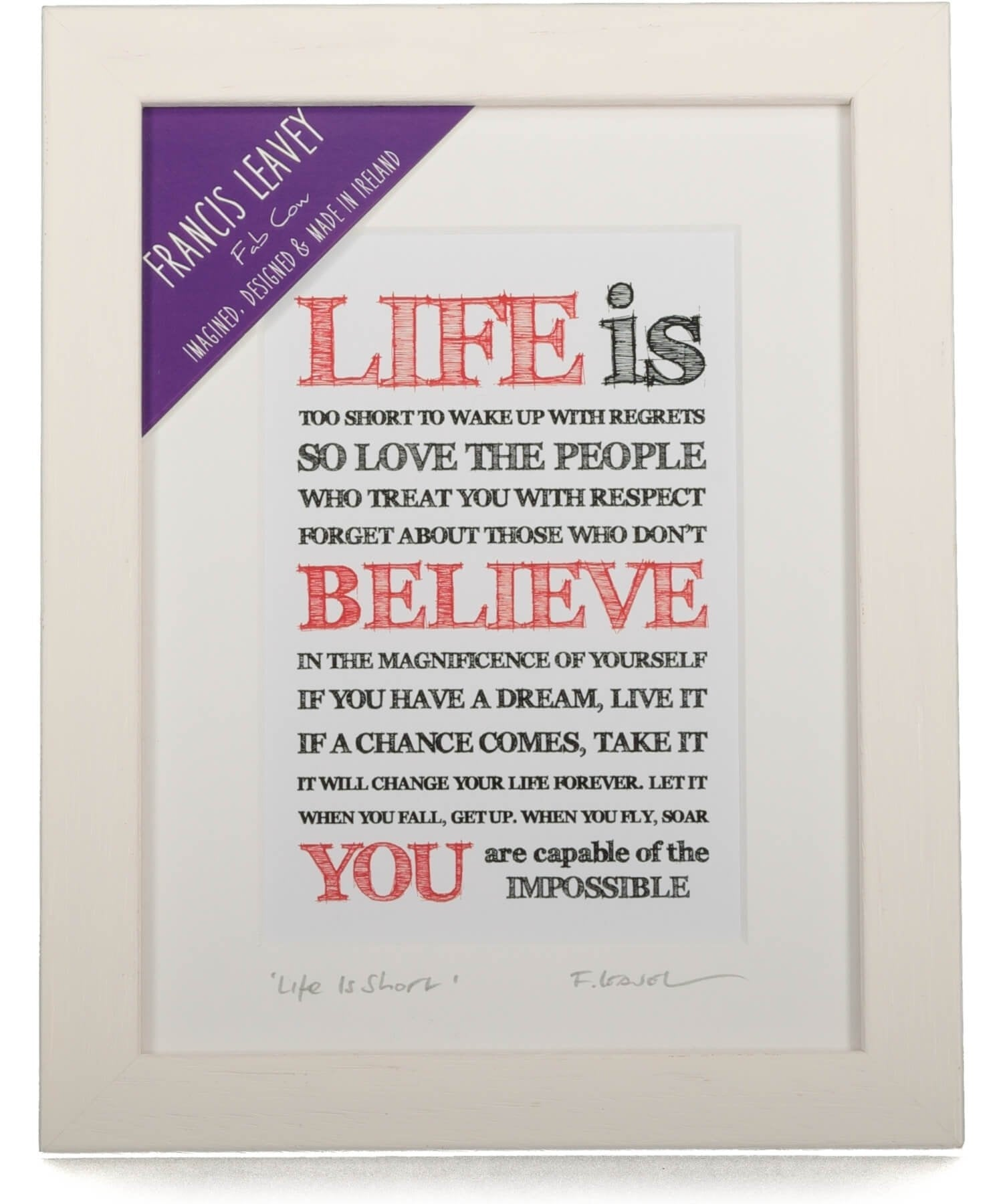 Framed Print - Life Is Short Fab Cow Wall Art & Photography