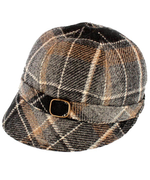 Flapper Hat - Classic Check - [Mucros Weavers] - Ladies Hats & Headbands - Irish Gifts