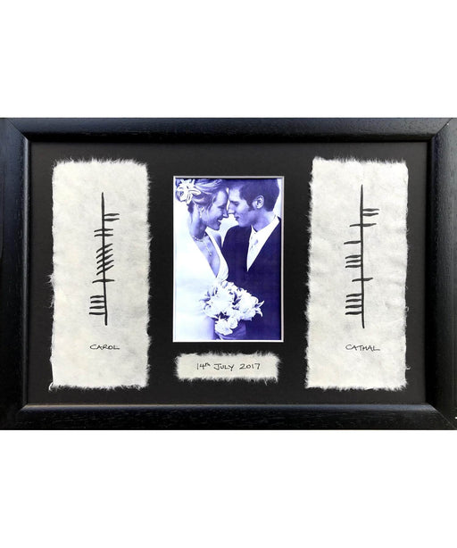 Ogham - Personalised Wedding / Engagement Wishes Wall Art Prints & Photography
