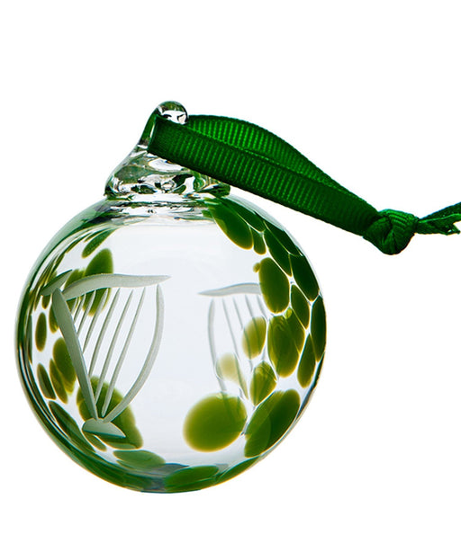 Irish Harp Bauble The Handmade Glass Company Crystal &