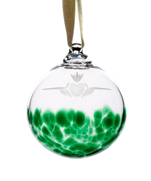Claddagh Bauble The Irish Handmade Glass Company Crystal &
