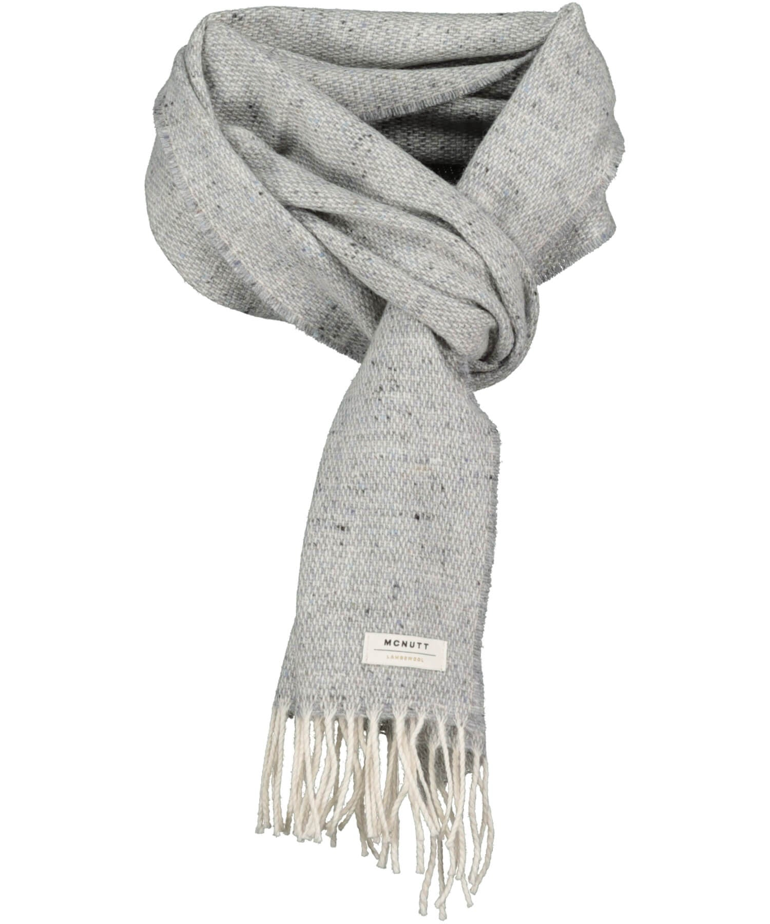 Tweed Scarf - Light Grey - [McNutts] - Unisex Scarves - Irish Gifts