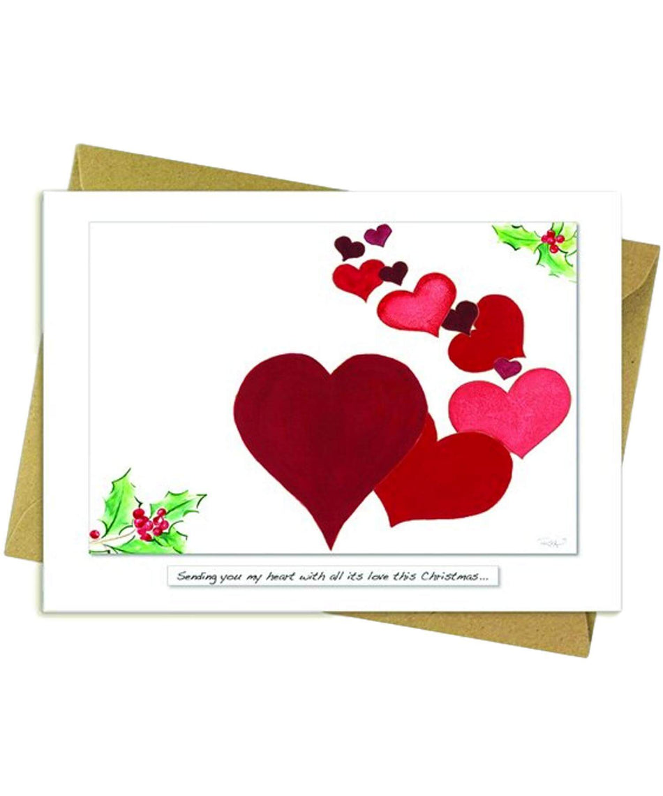 Greeting Card - Sending You My Heart - [Rita Oates] - Greeting Cards - Irish Gifts