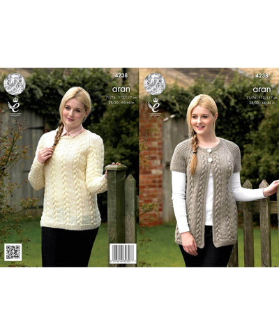 King Cole Aran Pattern 4238 - [Springwools] - Knitting - Irish Gifts