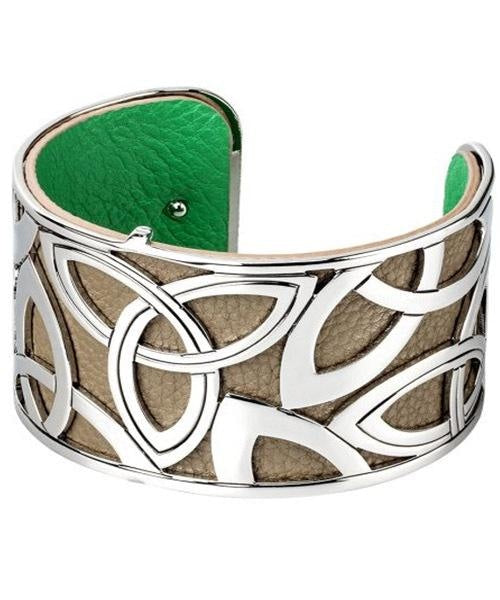 Trinity Tan Cuff - Wide Solvar Celtic Jewellery