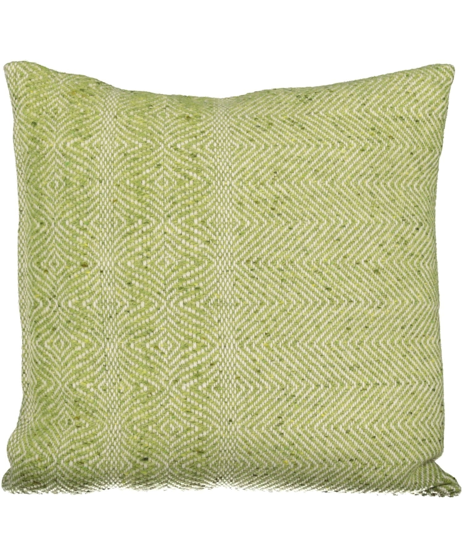 Handwoven Tweed Cushion Cover - Lime - [Studio Donegal] - Throws & Cushions - Irish Gifts