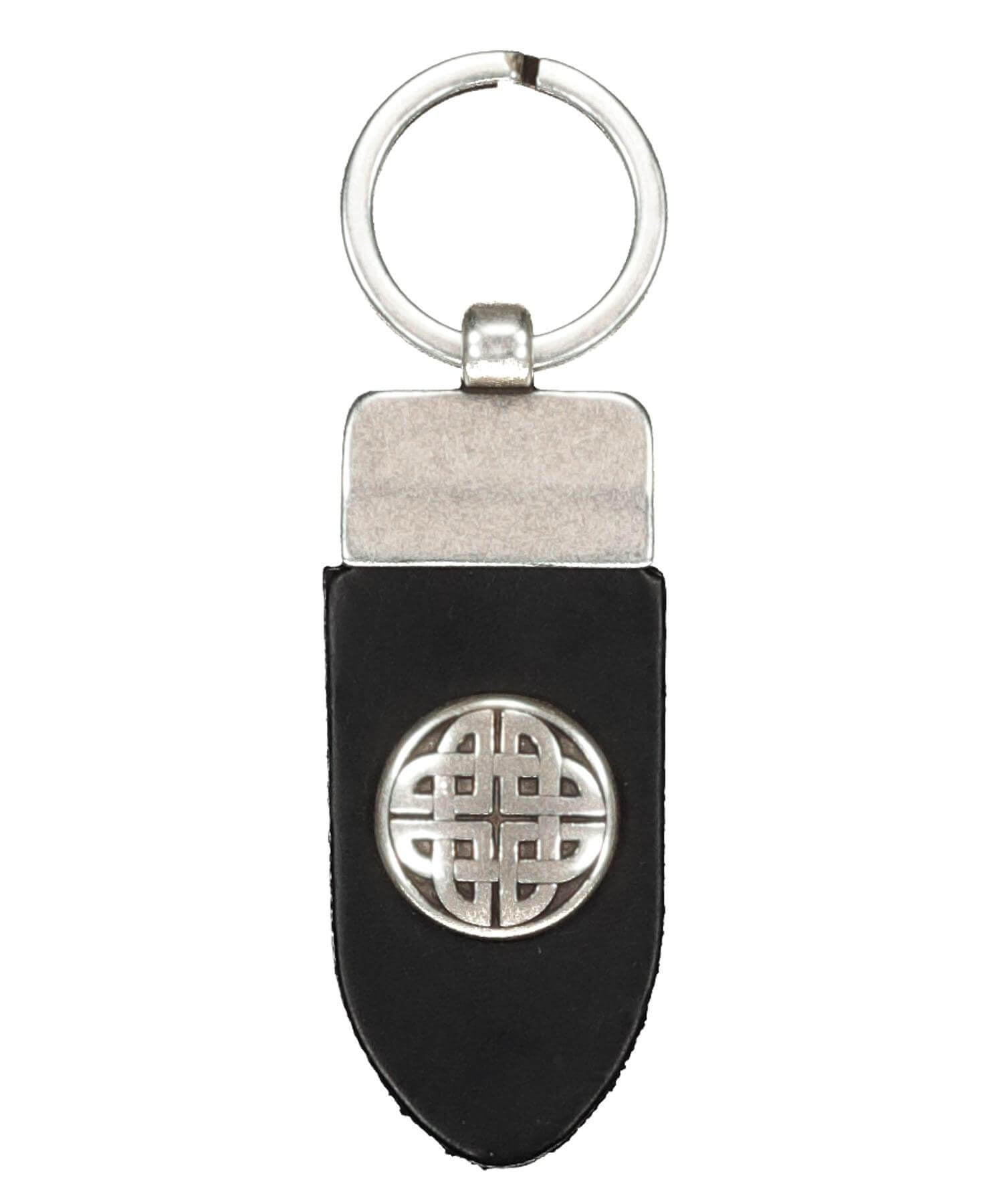 Finnbenach Keyring - Small Celtic Knot (black) - [Lee River] - Bags, Purses & Wallets - Irish Gifts