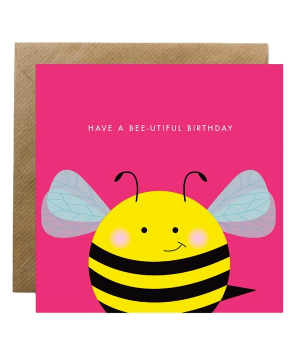Greeting Card - Have A Bee-utiful Birthday Bold Bunny Cards