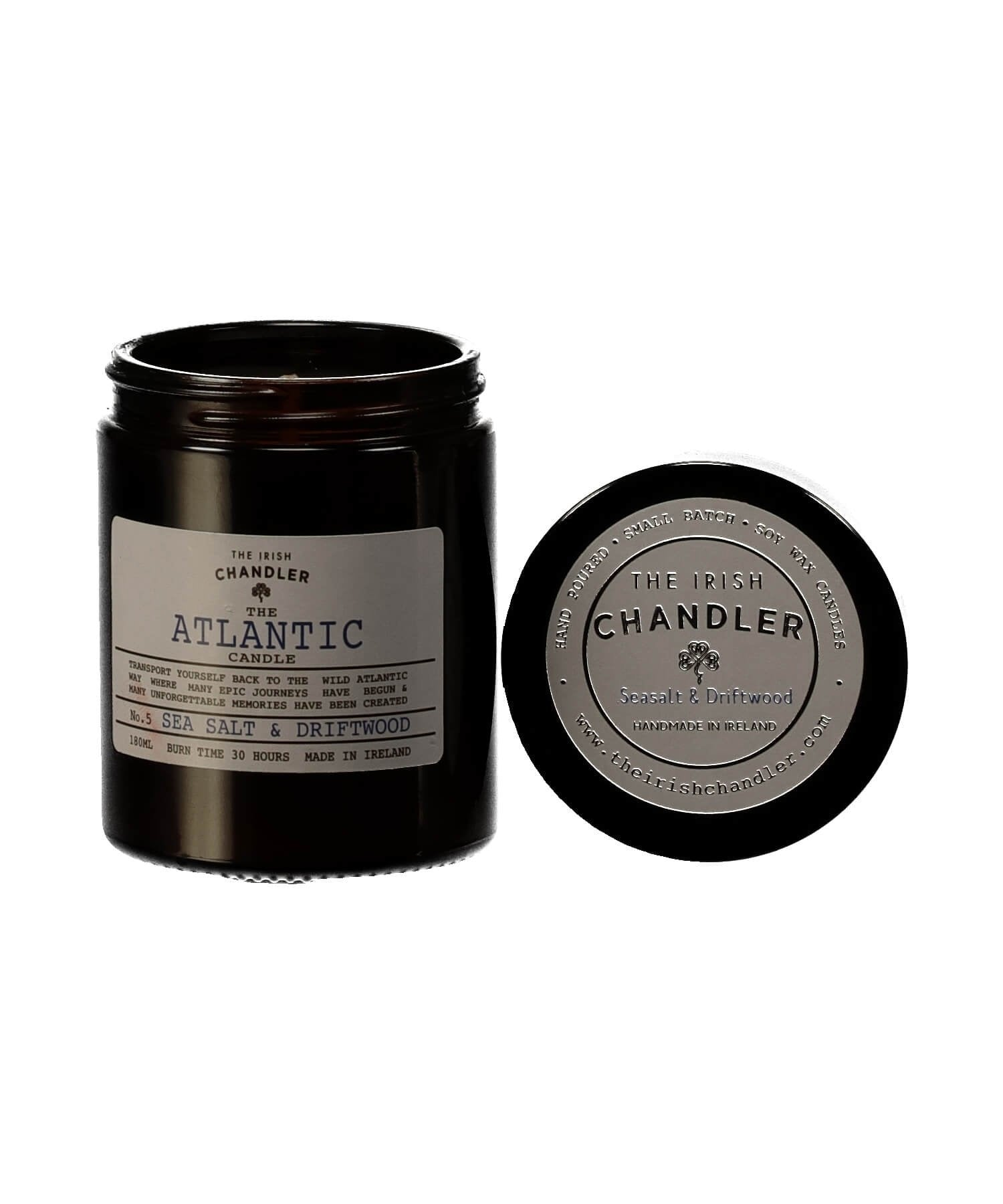 Amber Glass Candle - Atlantic - [The Irish Chandler] - Home Fragrance - Irish Gifts