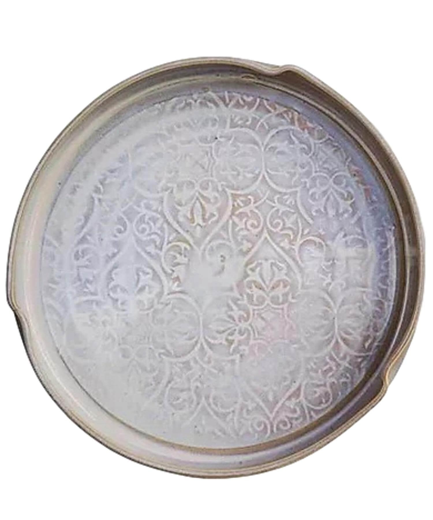 Oileán White - Serving Dish - [Castle Arch] - Pottery & Ceramics - Irish Gifts