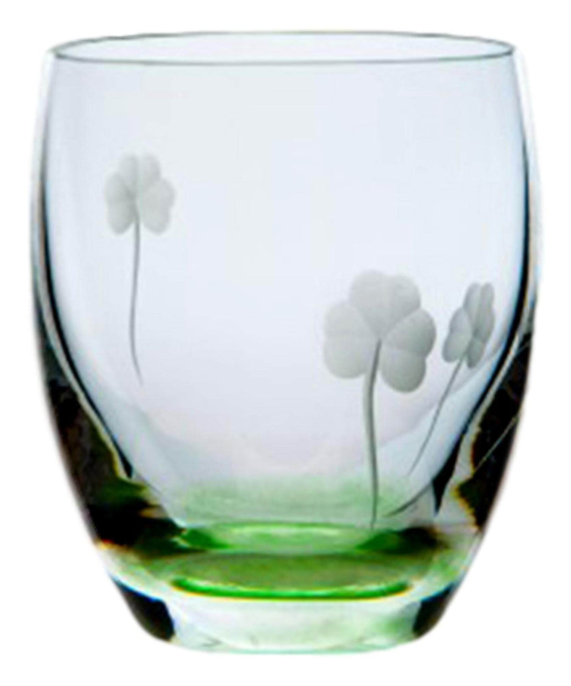 Irish Shamrock Tumbler Pair The Handmade Glass Company Crystal &