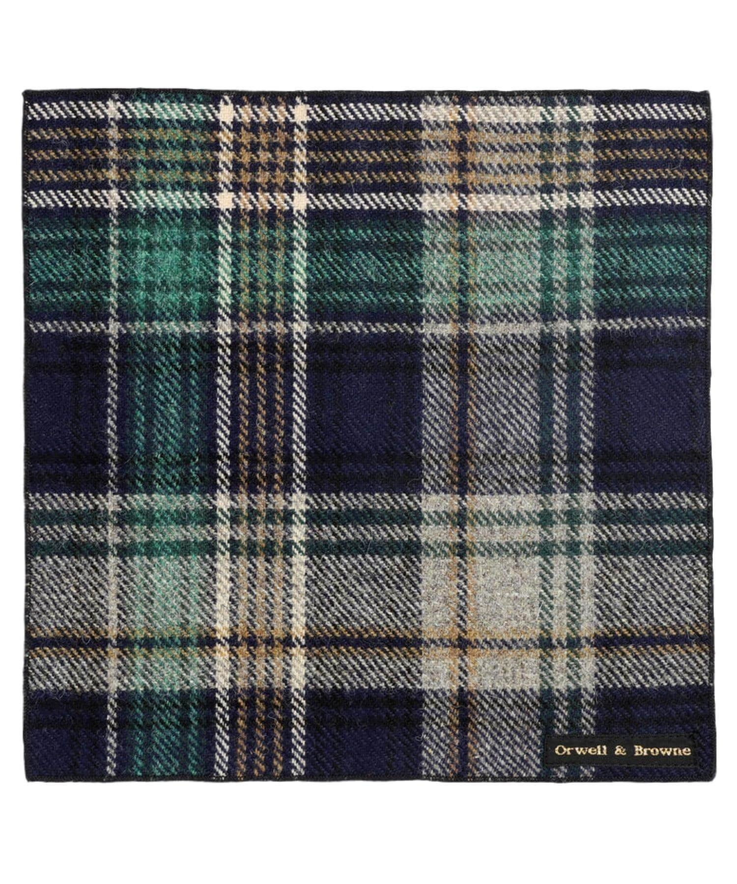 Donegal Tweed Pocket Square - Harlequin - [Orwell & Browne] - Mens Accessories - Irish Gifts