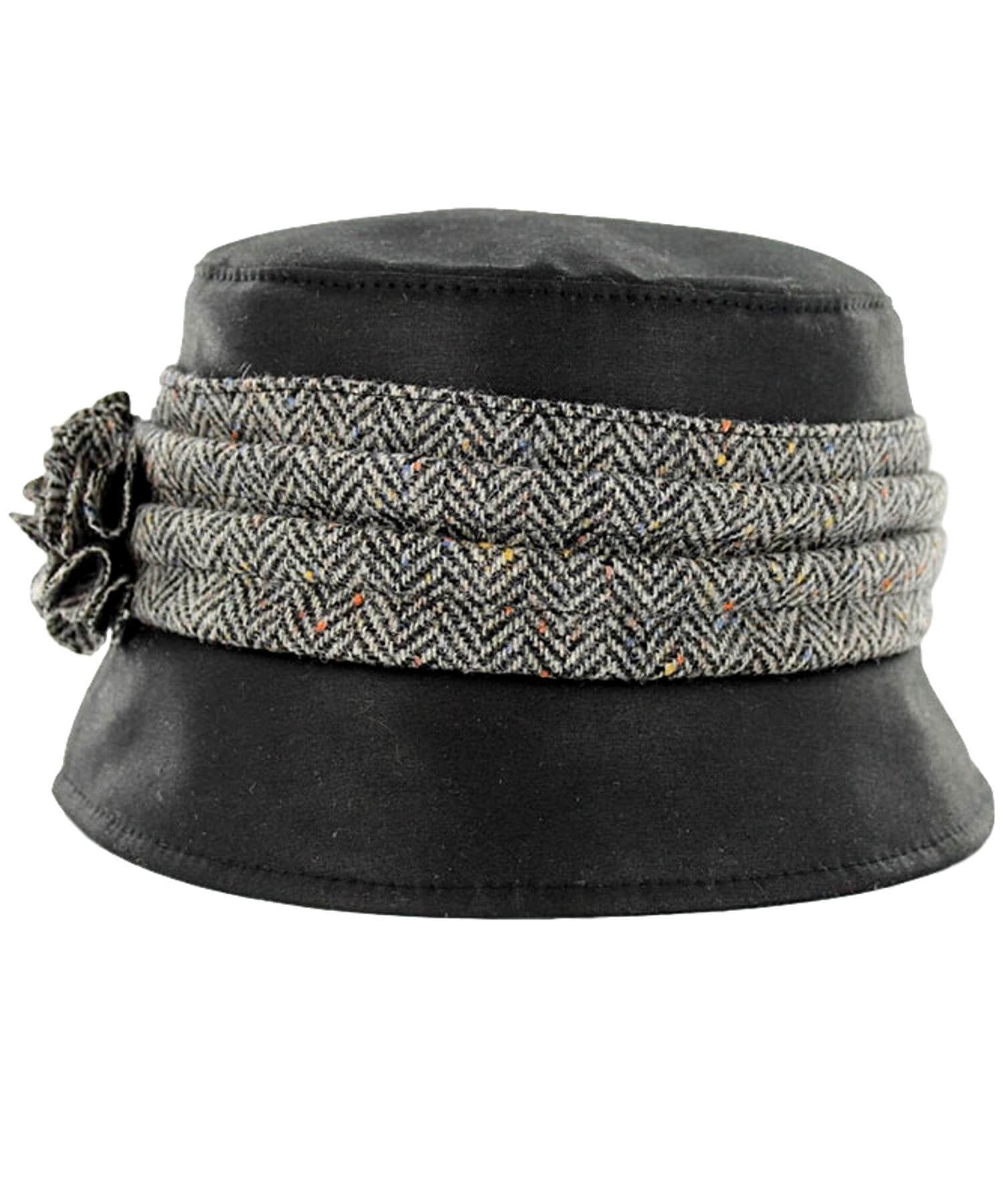 Kate Wax Hat - Black - [Mucros Weavers] - Ladies Hats & Headbands - Irish Gifts