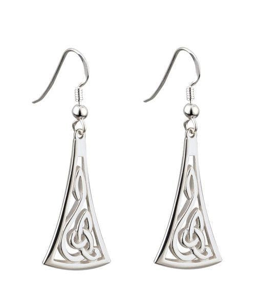 Celtic Drop Earrings Solvar Jewellery