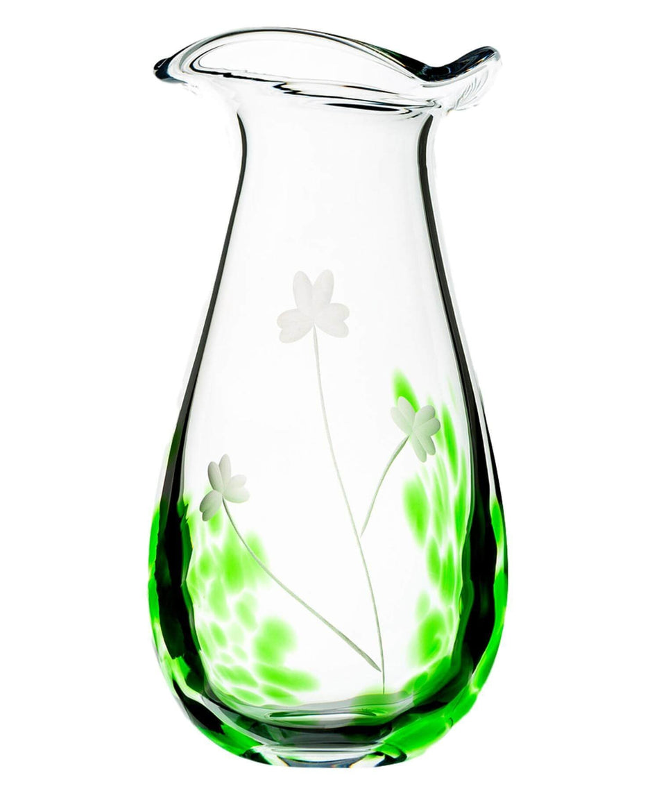 Irish Shamrock Large Vase - [The Irish Handmade Glass Company] - Irish Crystal & Glass - Irish Gifts