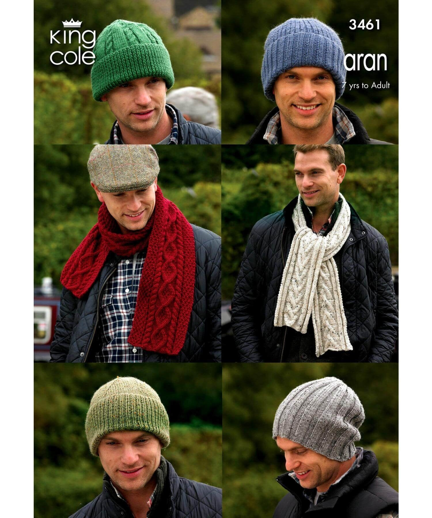 King Cole Aran Pattern 3461 - [Springwools] - Knitting - Irish Gifts