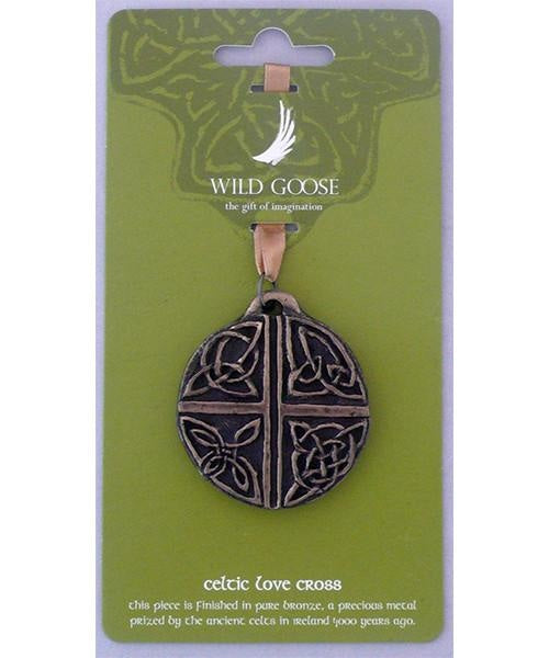 Hanging Ornament - Celtic Love Cross Wild Goose Souvenir