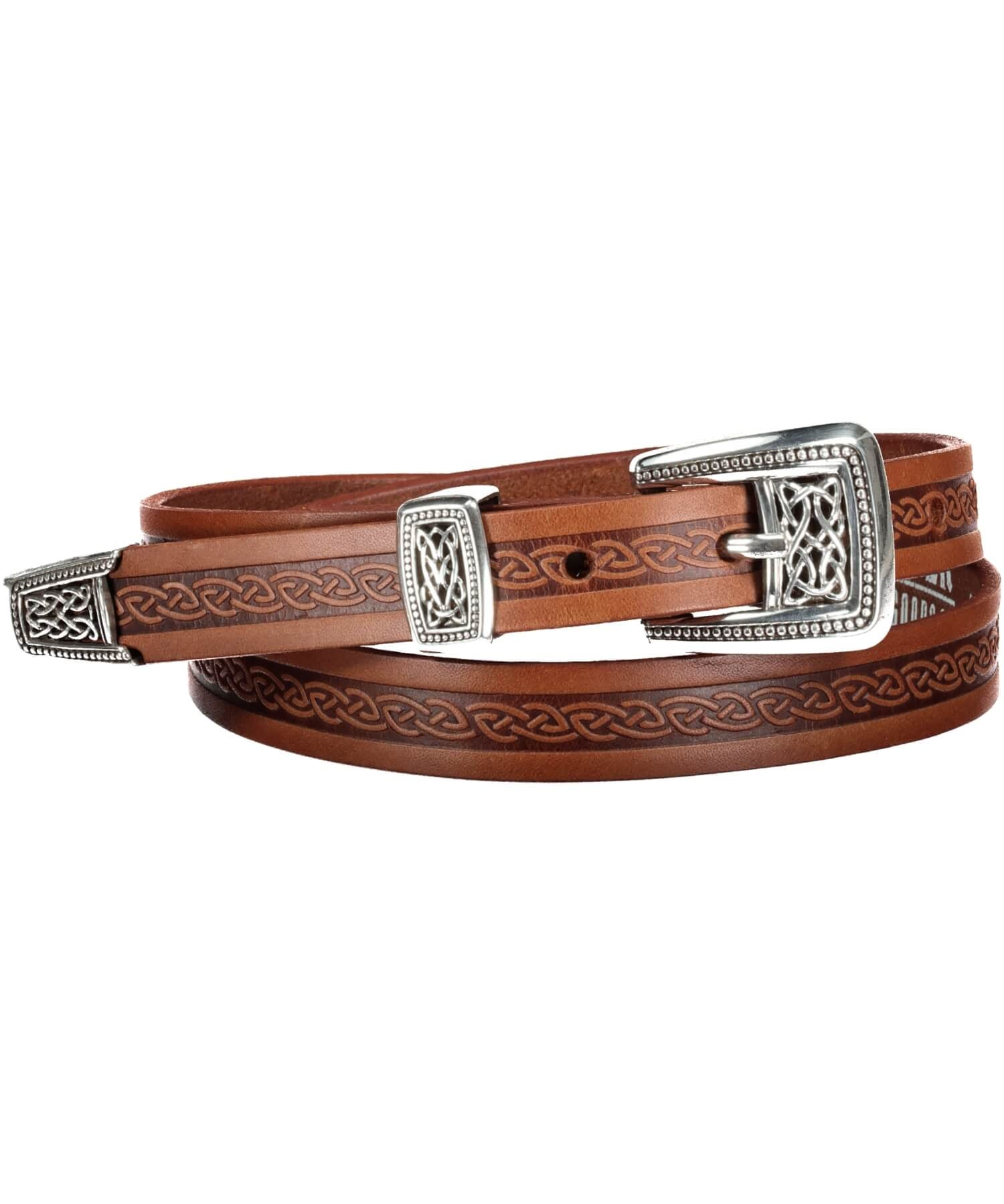 Meabh Belt - Brown - [Lee River] - Leather Belts & Buckles - Irish Gifts