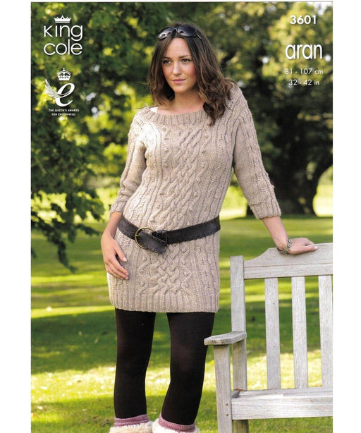 King Cole Aran Pattern 3601 Springwools Knitting