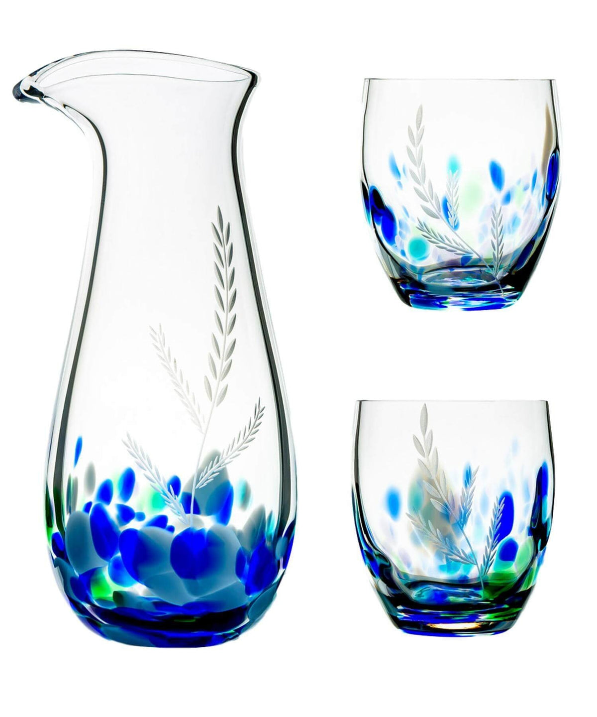 Wild Atlantic Way Carafe & Glass Set - [The Irish Handmade Glass Company] - Irish Crystal & Glass - Irish Gifts