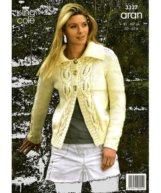 King Cole Aran Pattern 3327 Springwools Knitting