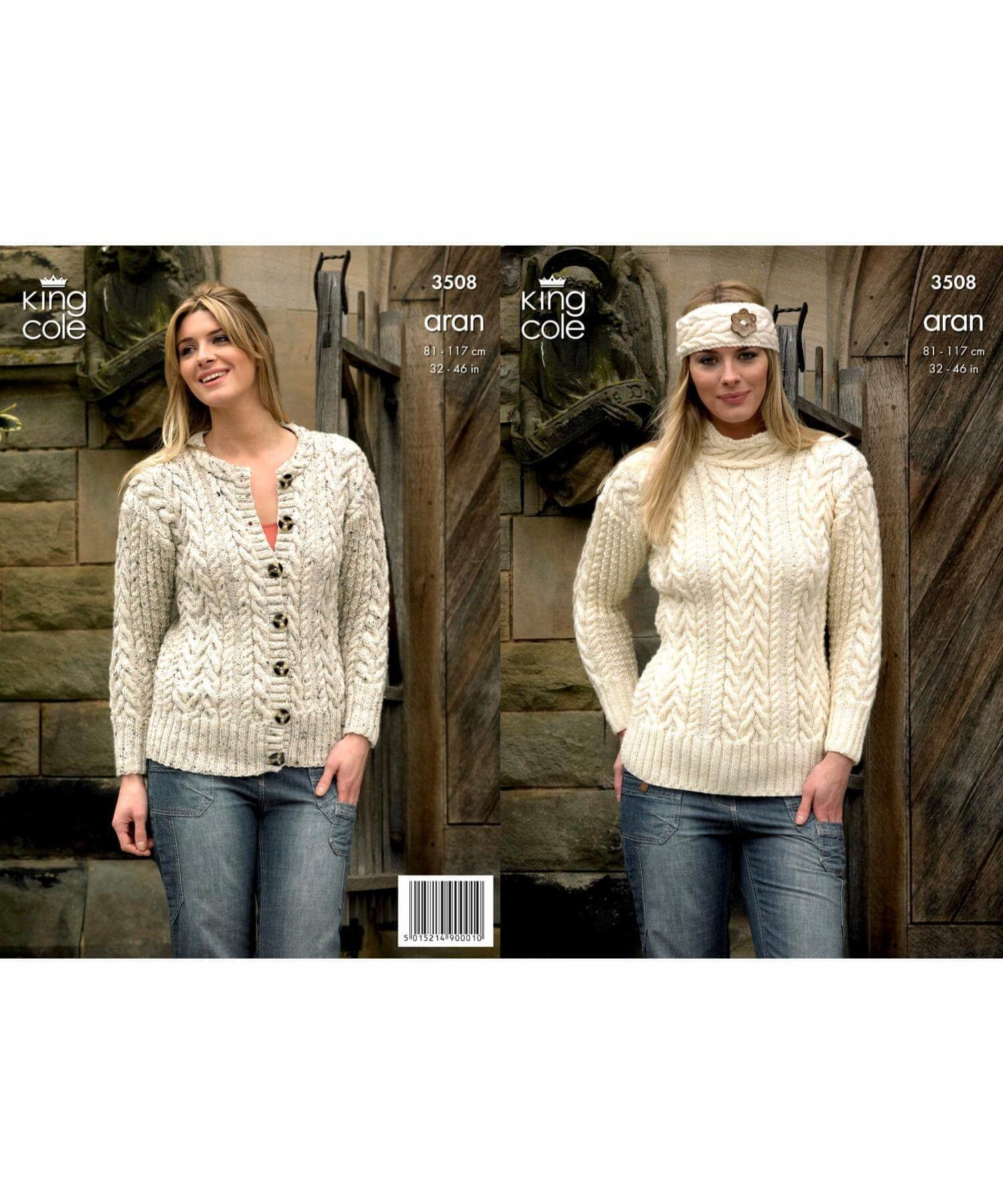 King Cole Aran Pattern 3508 - [Springwools] - Knitting - Irish Gifts