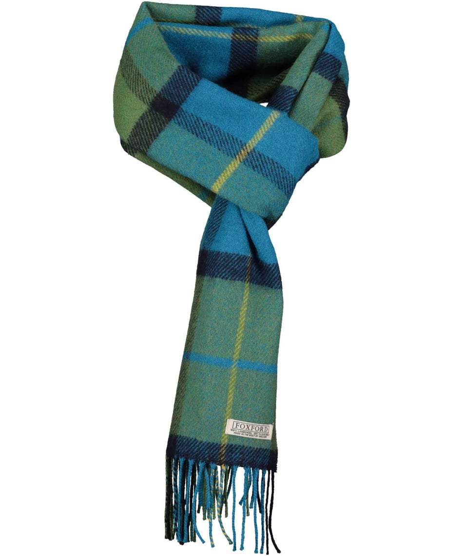 Lambswool Scarf - Nautical Check - [Foxford] - Unisex Scarves - Irish Gifts