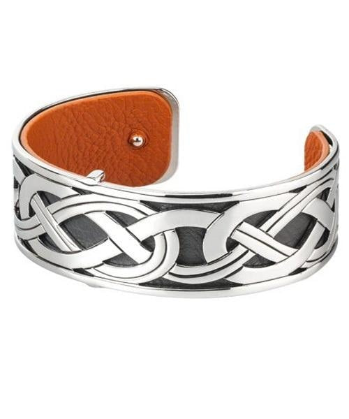 Celtic Band Black Cuff Solvar Jewellery
