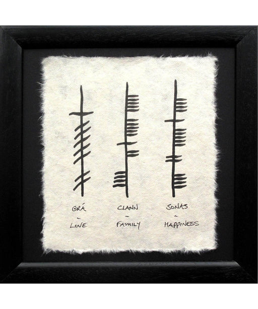 Ogham - Love-Family-Hap - Mini Wishes Wall Art Prints & Photography
