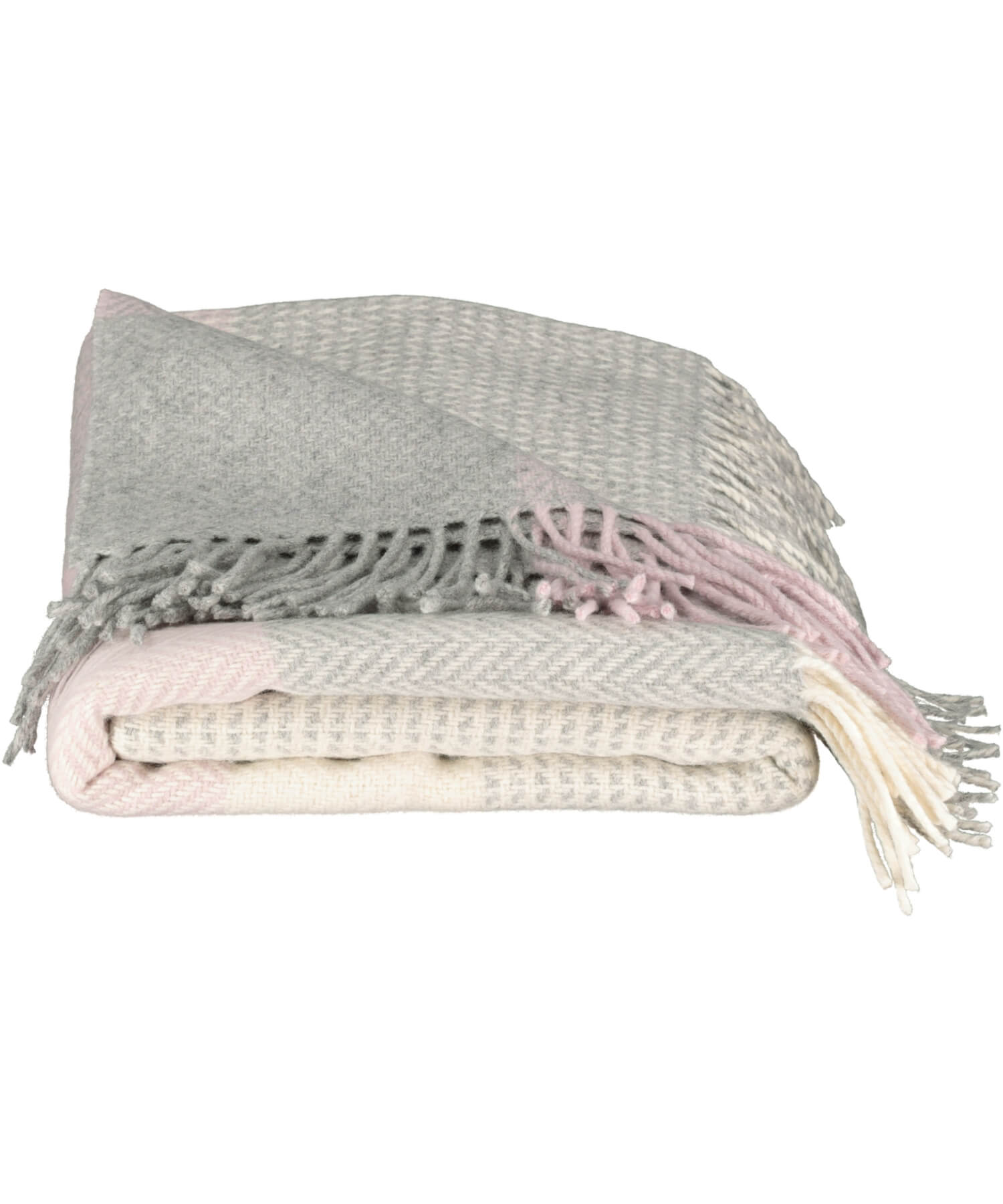 Luxury - Pink Block Check Throw - [Foxford] - Throws & Cushions - Irish Gifts