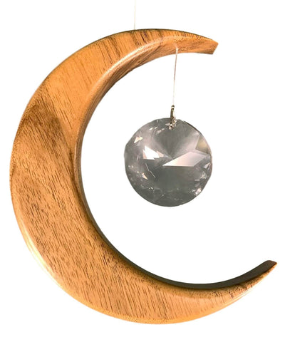 Suncatcher - Walnut Moon (medium) - [Artwood] - Wood & Slate - Irish Gifts