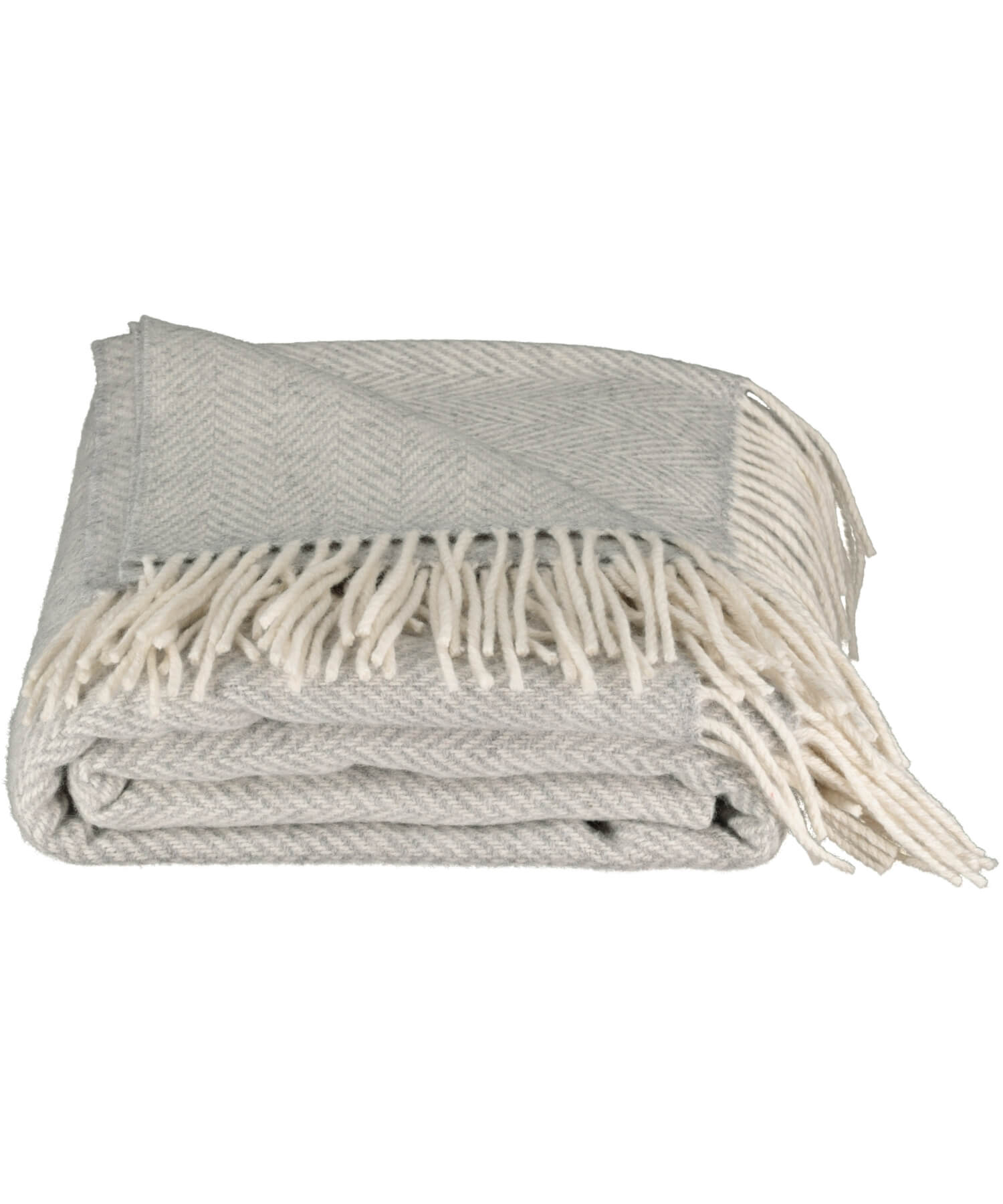Luxury - Pearl Grey Herringbone Throw - [Foxford] - Throws & Cushions - Irish Gifts